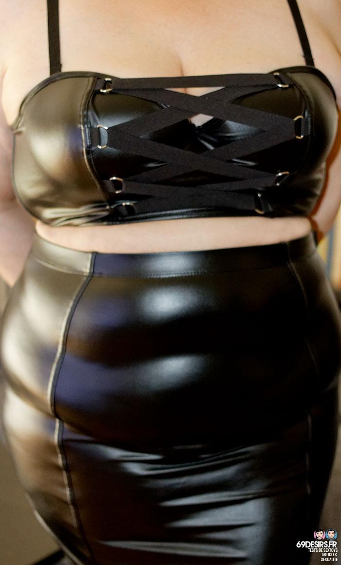 Lovehoney Fierce Longline Bra and Fierce Skirt